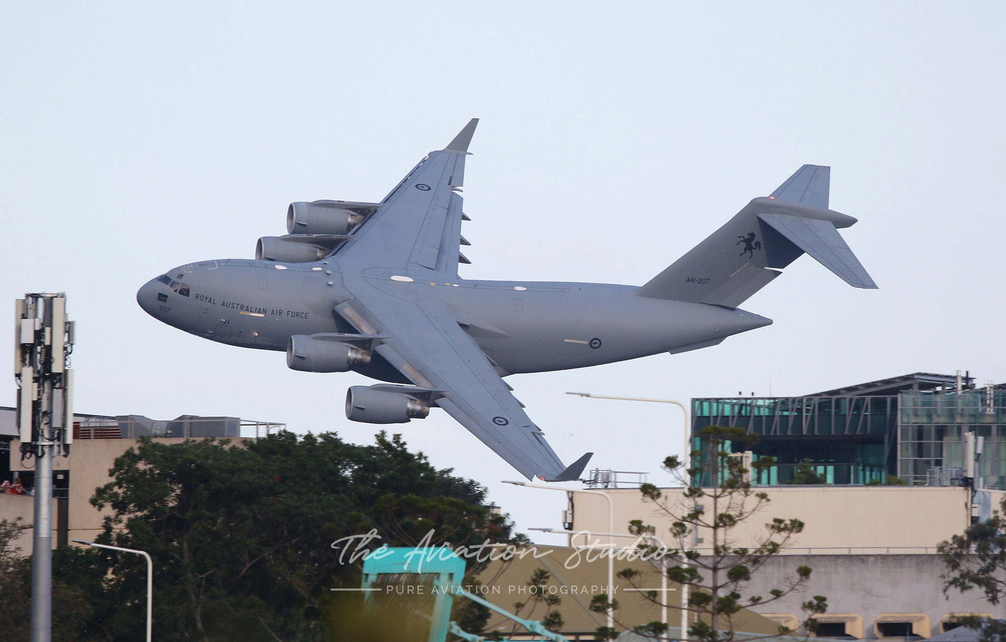 A Royal Australian Air Force C-17 at Riverfire Brisbane 2019