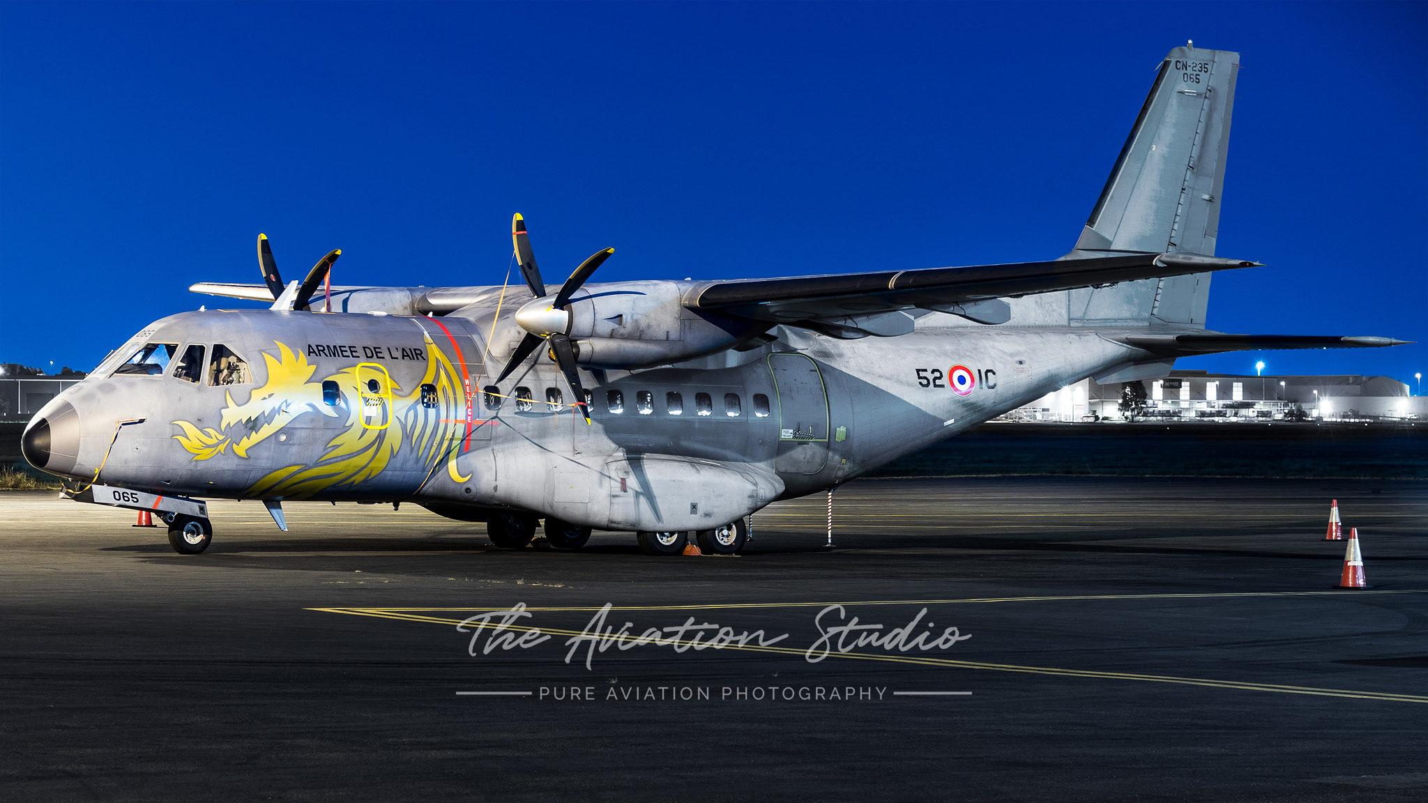 Armée de l'Air CASA CN-235M-200 065 in special 70th Anniversary Scheme at Brisbane Airport