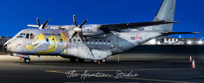 Armée de l'Air CASA CN-235M-200 065 in special 70th Anniversary Scheme at Brisbane Airport