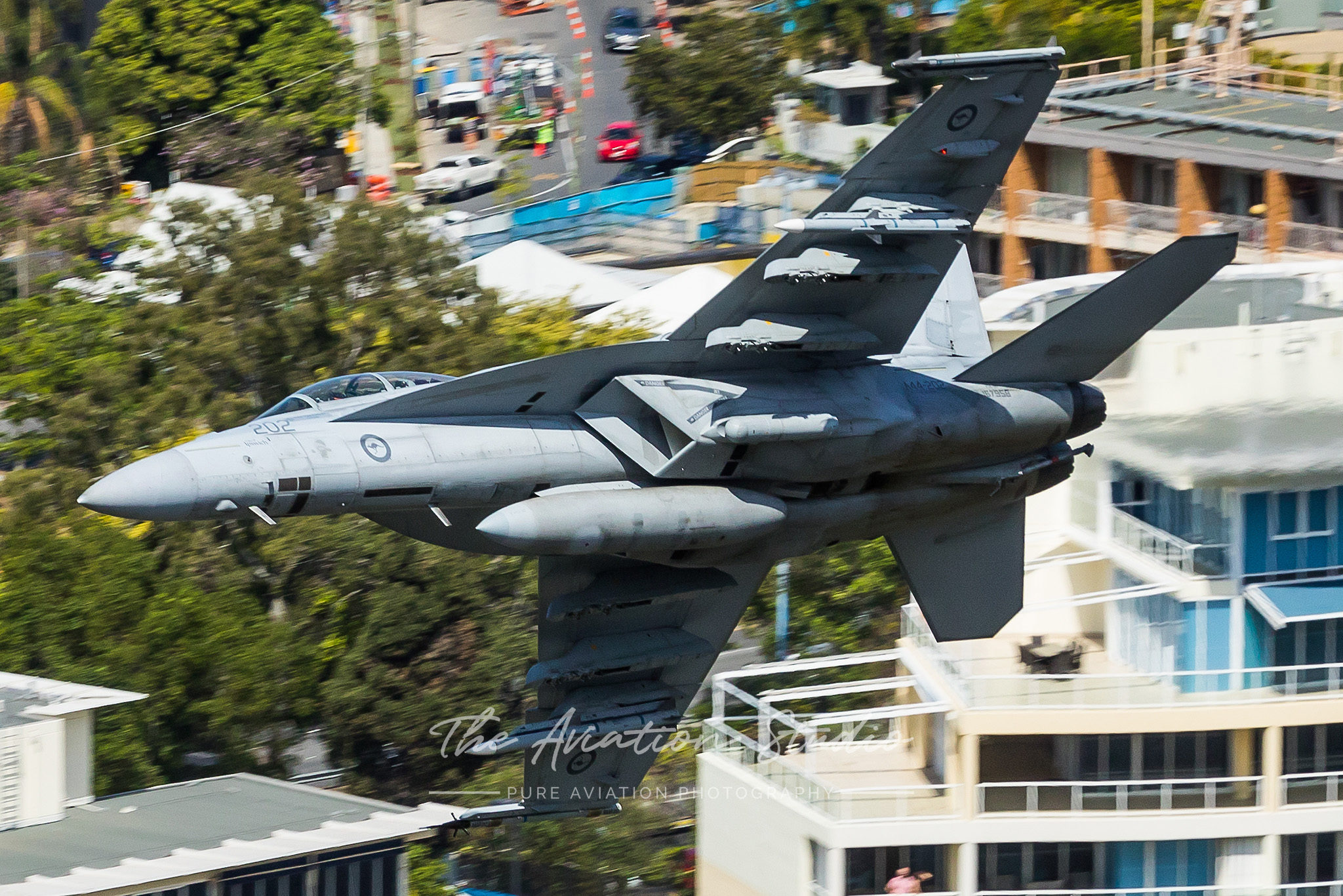 RAAF Boeing F/A-18F Super Hornet A44-202 breaking right