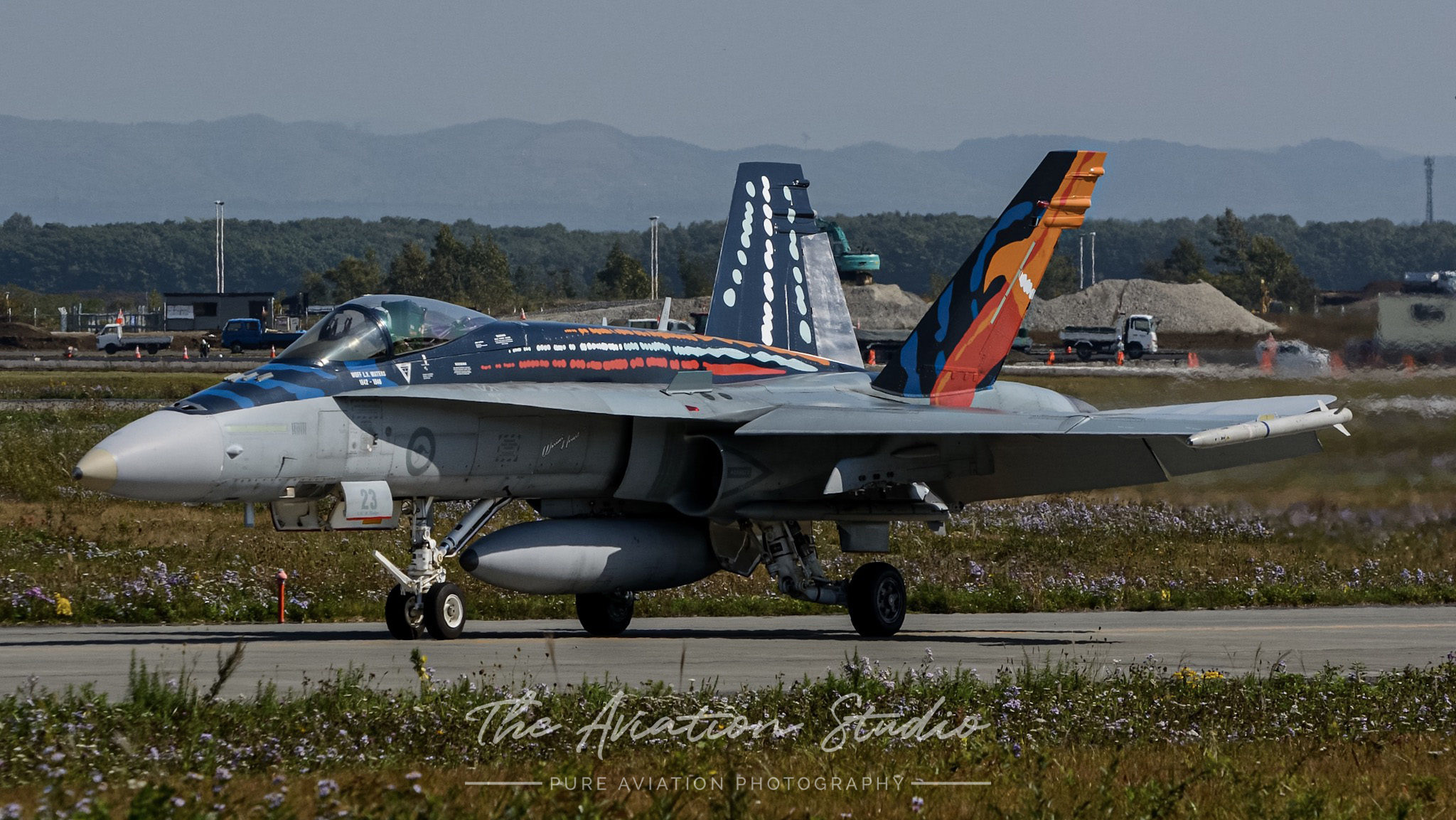 RAAF F/A-18A A21-23 taxiing at Chitose Air Base