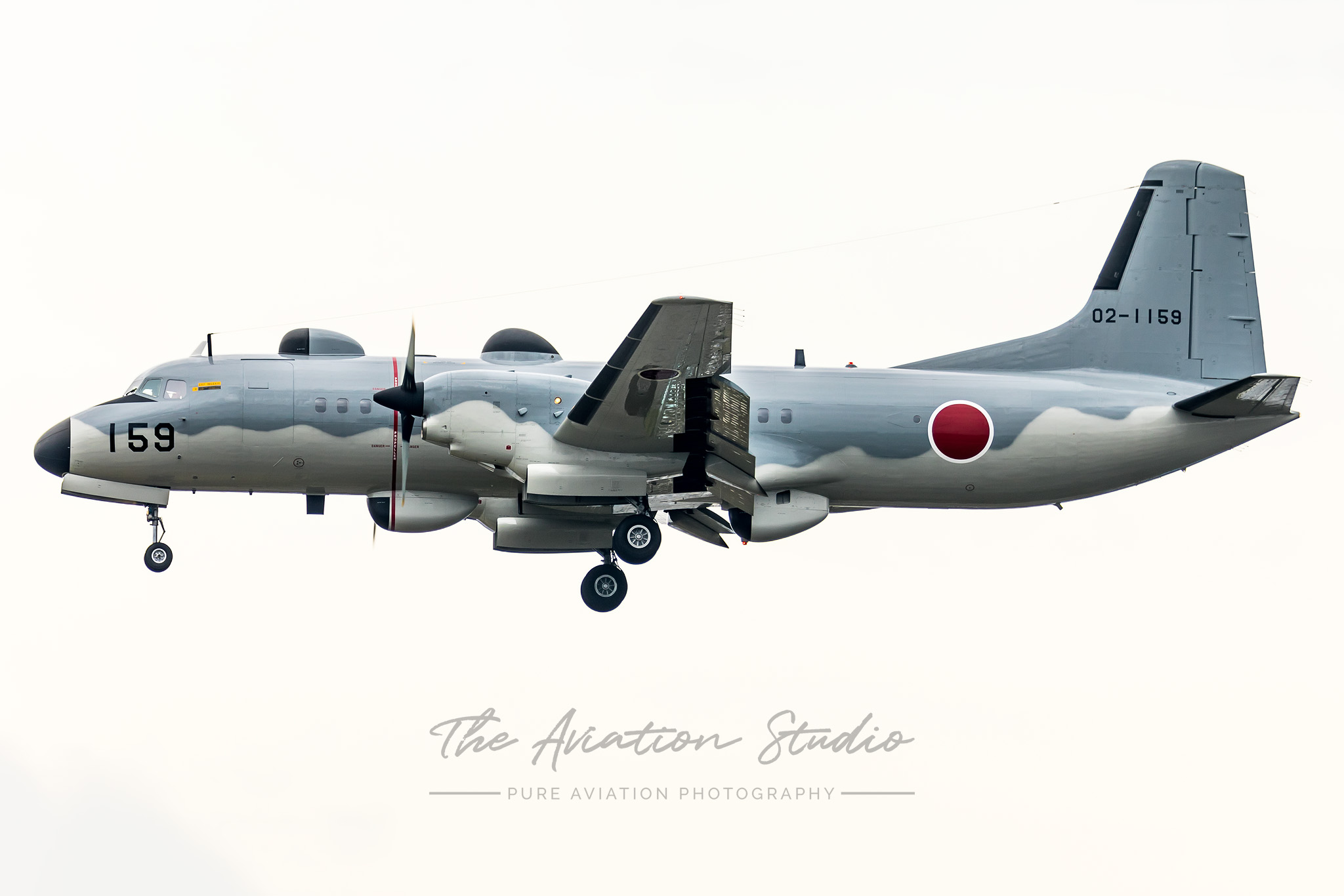 NAMC YS-11EB 02-1159 arriving at Iruma (Image: Emil Cooper)