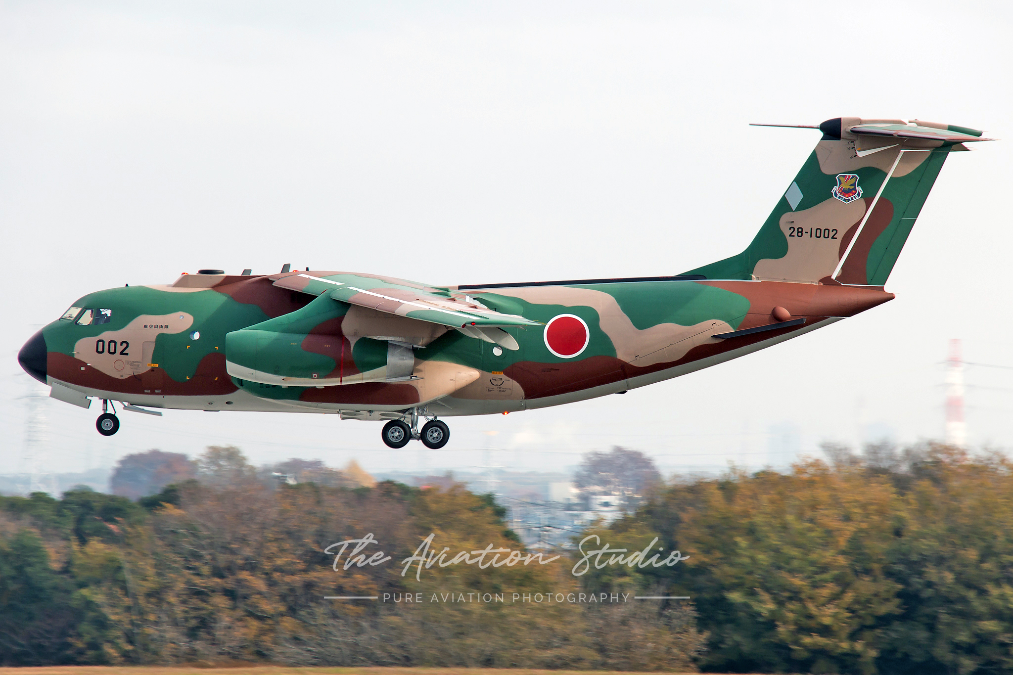 Kawasaki C-1 28-1002 on final at Iruma (Image: Brock Little)