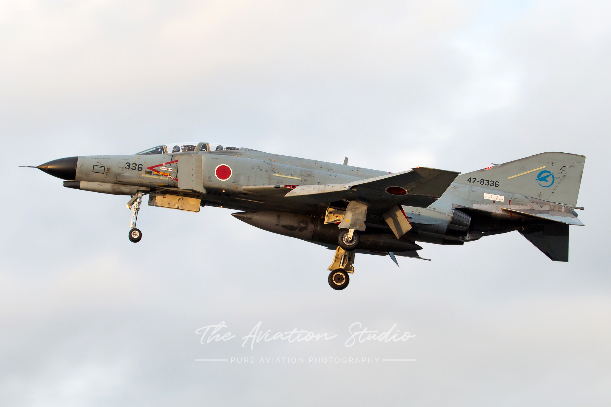 McDonnell Douglas F-4EJ Phantom II 47-8336 on arrival into Gifu (Image: Brock Little)