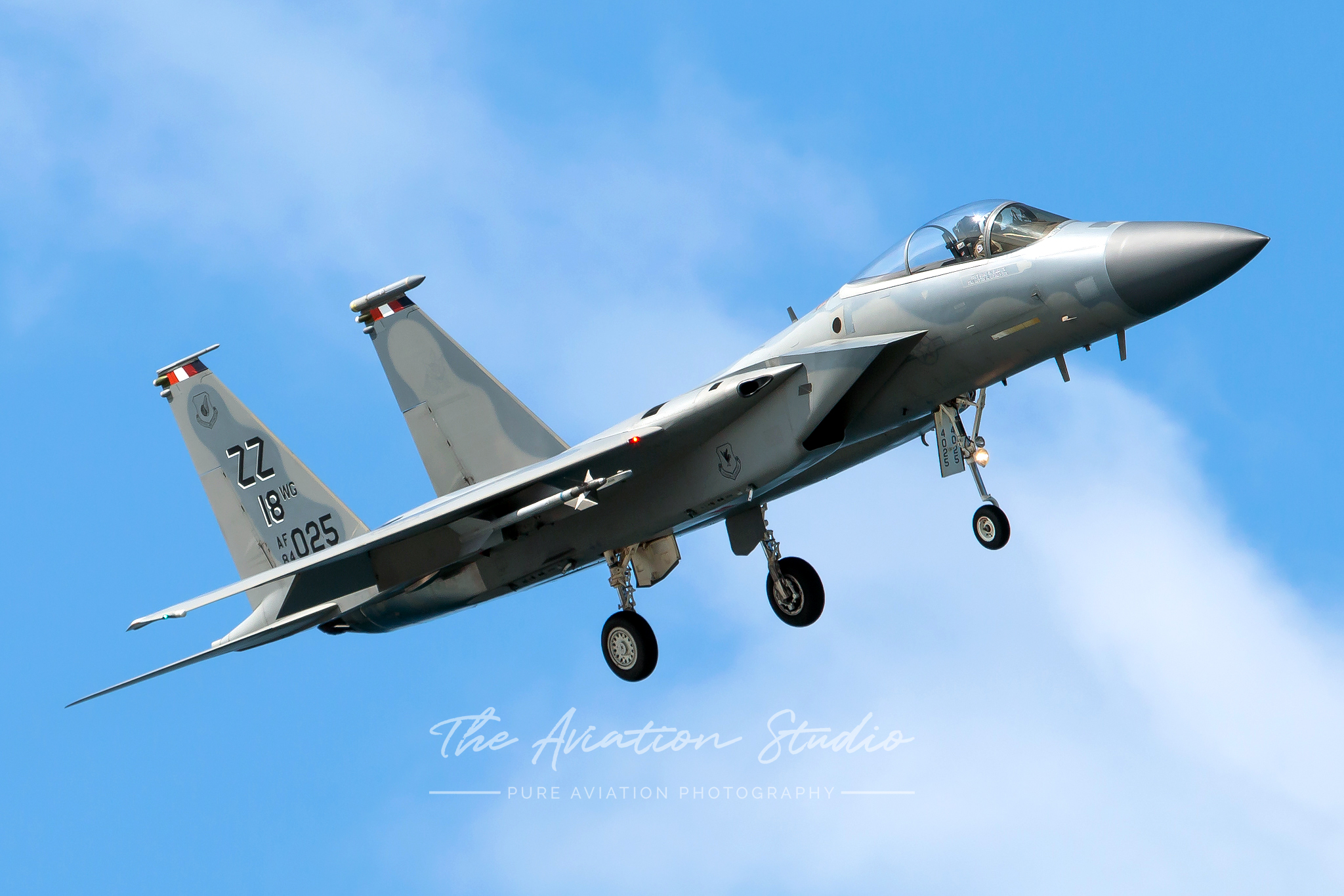 McDonnell Douglas F-15C Eagle 84-0025 on short final to Kadena (Image: Brock Little)