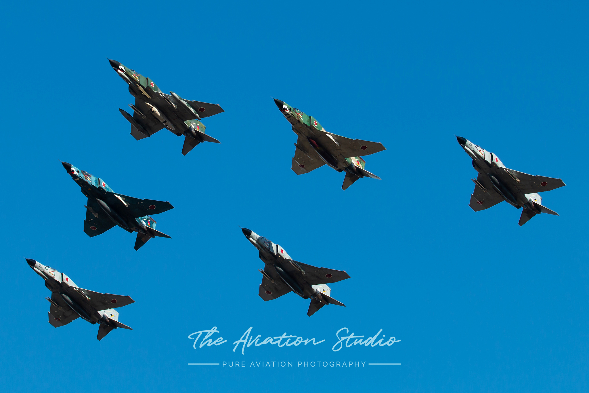 A six-ship F-4 Phantom formation flyover at the Hyakuri Air Festival (Image: Brock Little)