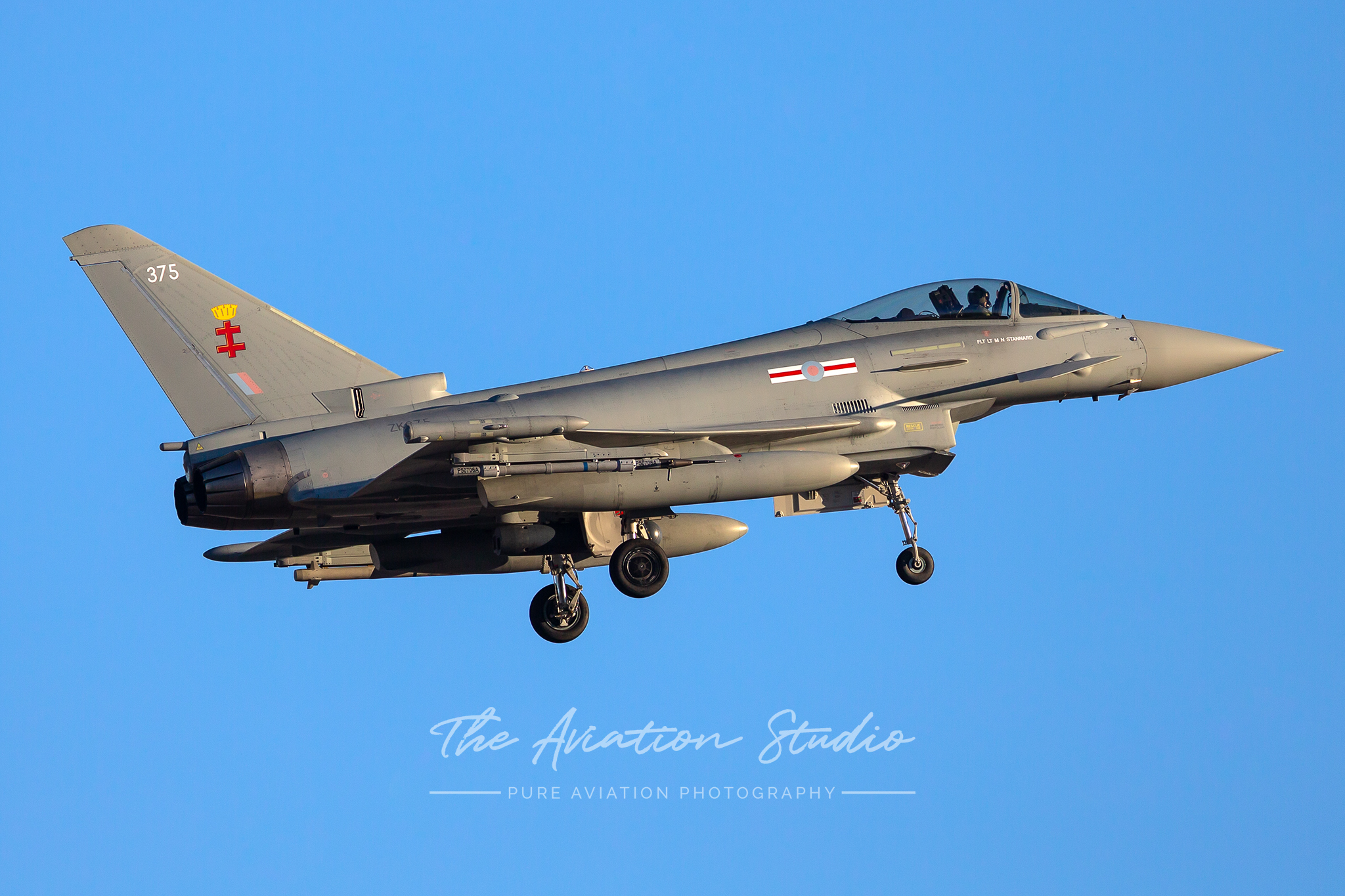 Royal Air Force Typhoon ZK375 on final for Nellis AFB Red Flag 20-1