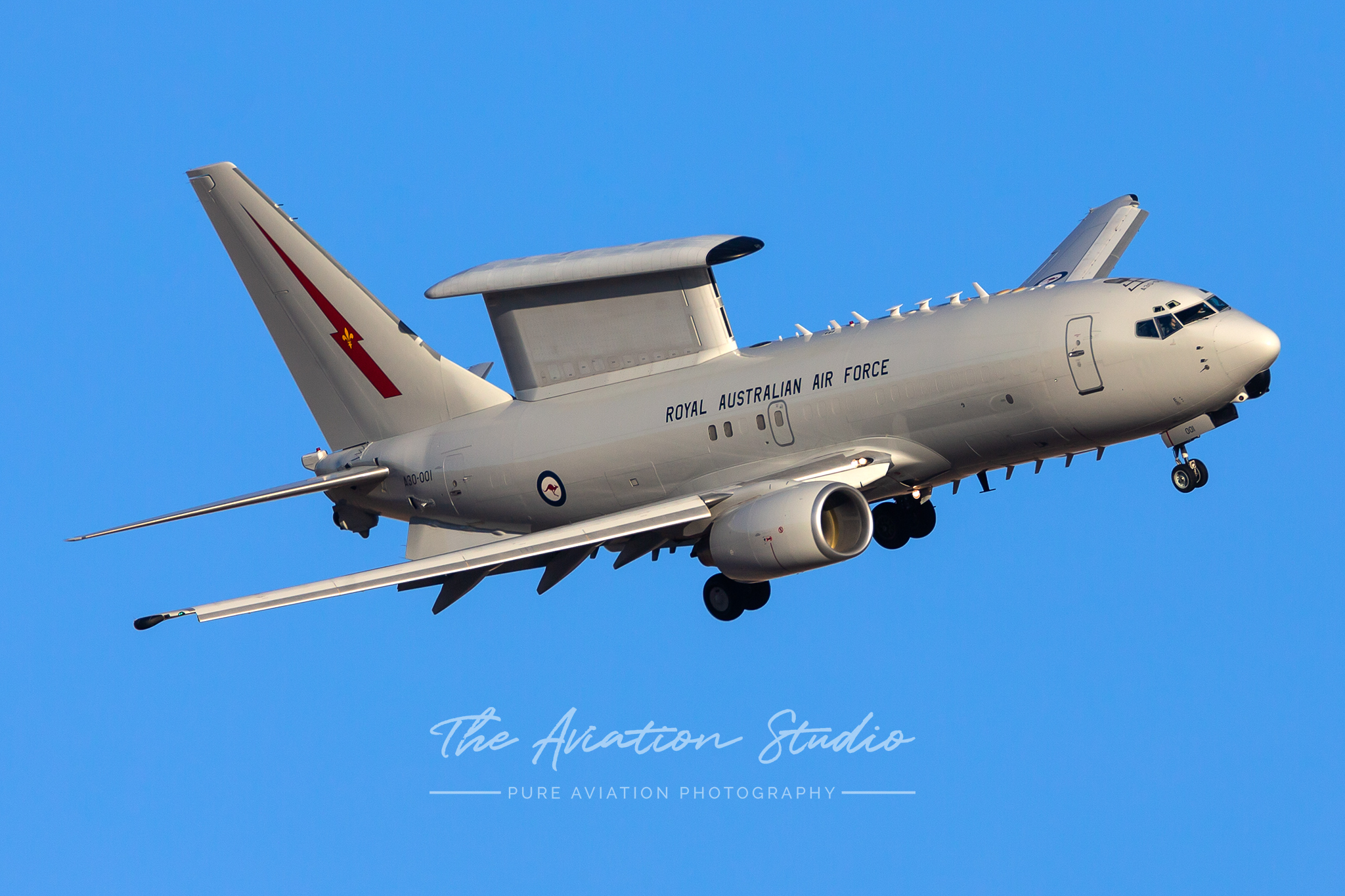 Royal Australian Air Force E-7A A30-001 turns final for Nellis AFB Red Flag 20-1