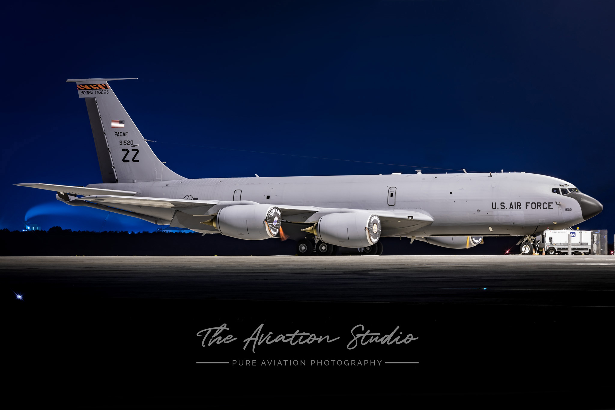 United States Air Force KC-135T 59-1520 parked at the international terminal at Brisbane Airport (Image: Emil Cooper)