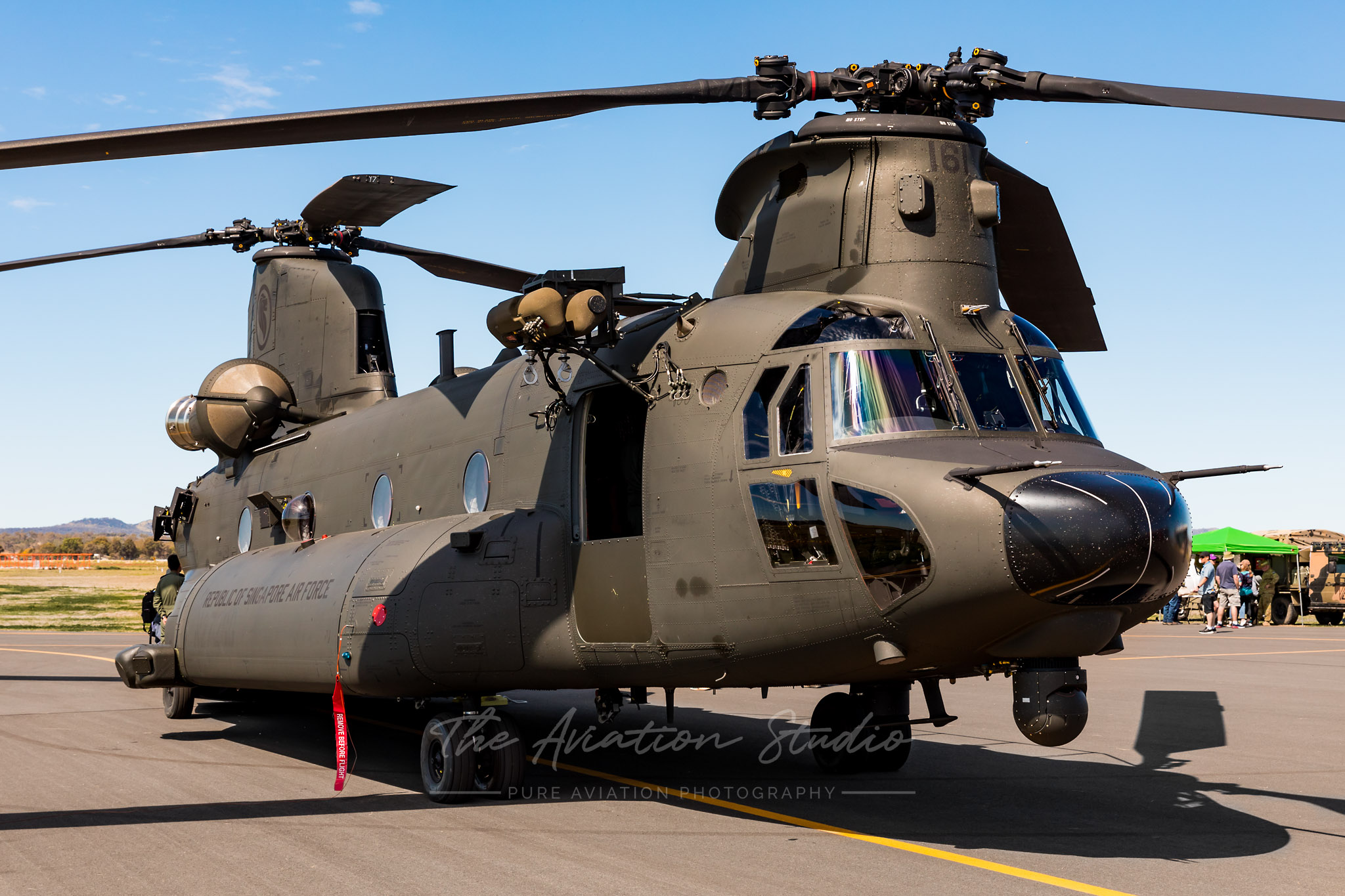 RSAF CH-47F 88161 on display at the Swartz Barracks Open Day
