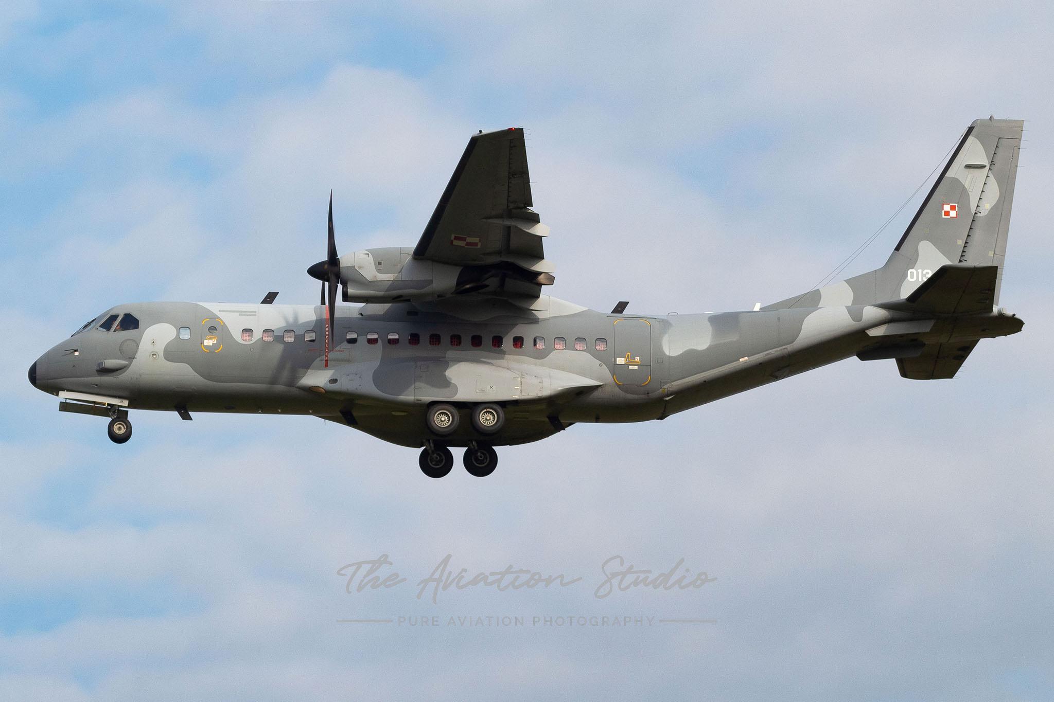 Polish Air Force CASA 295M 013 at Spottersday Kleine Brogel 2021