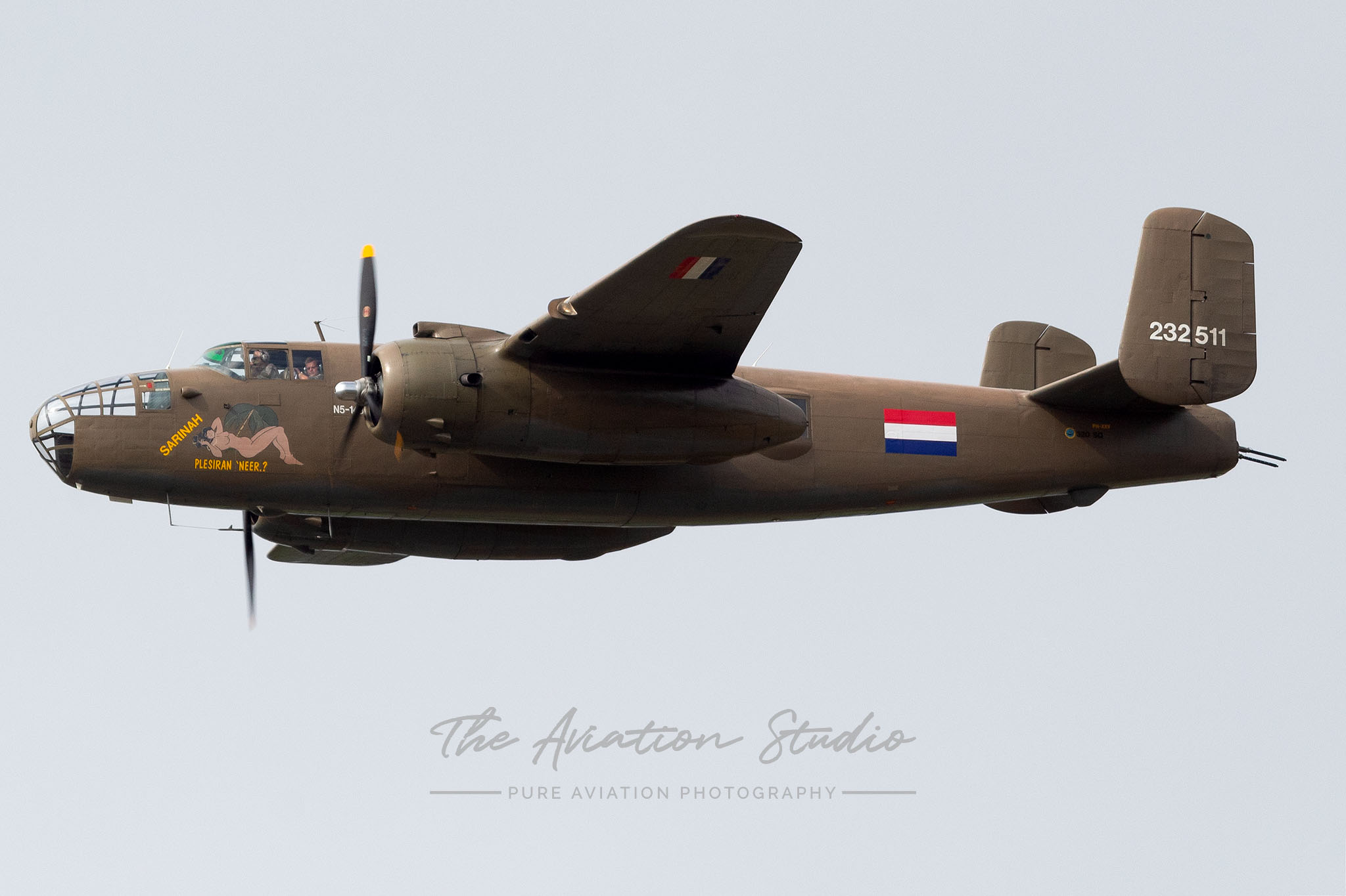RNLAF B-25 Mitchell 232511 at Spottersday Kleine Brogel 2021