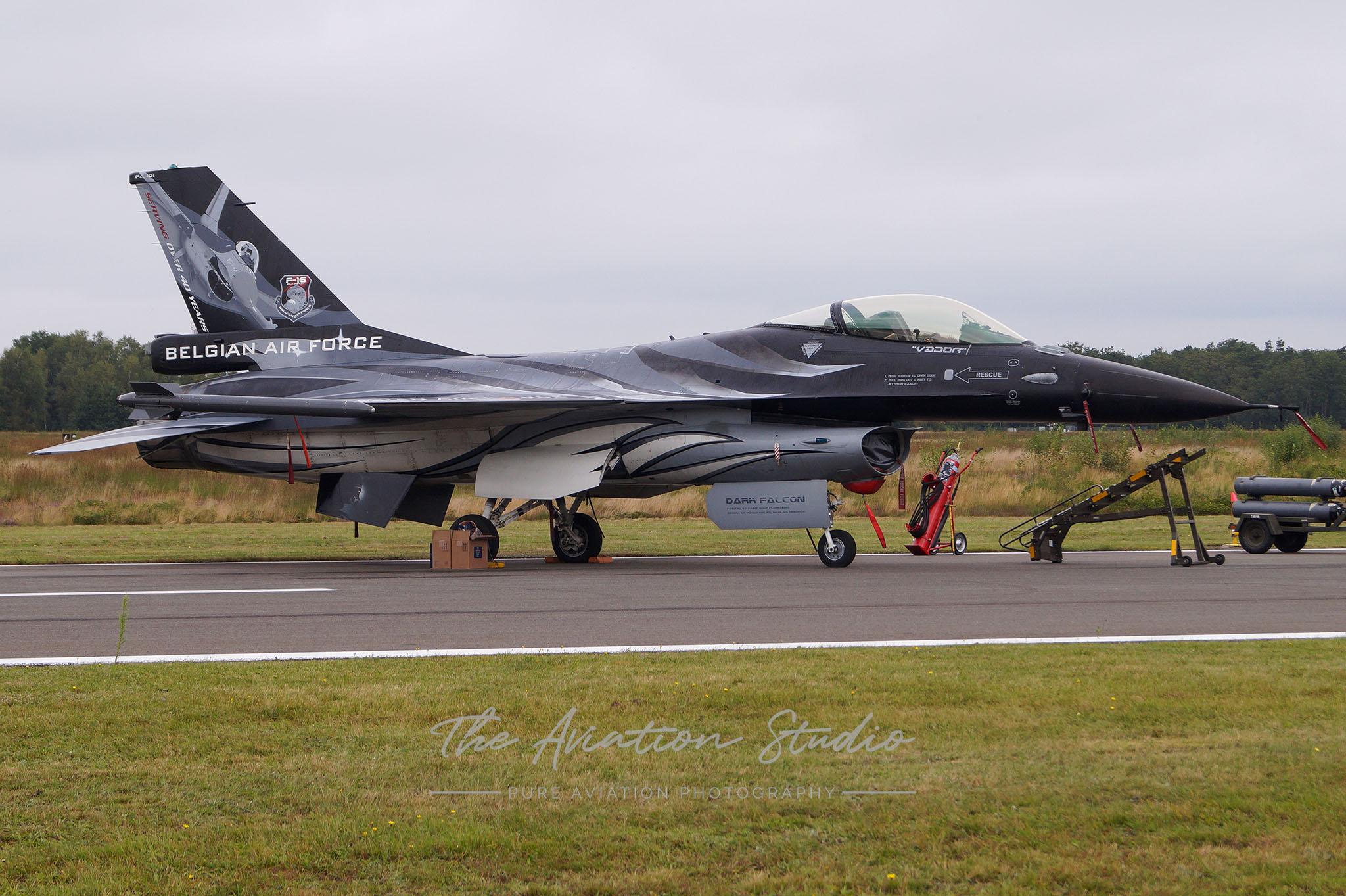 "Belgian Air Force General Dynamics F-16AM Fighting Falcon FA-101 ""Dark Falcon"" at Spottersday Kleine Brogel 2021"