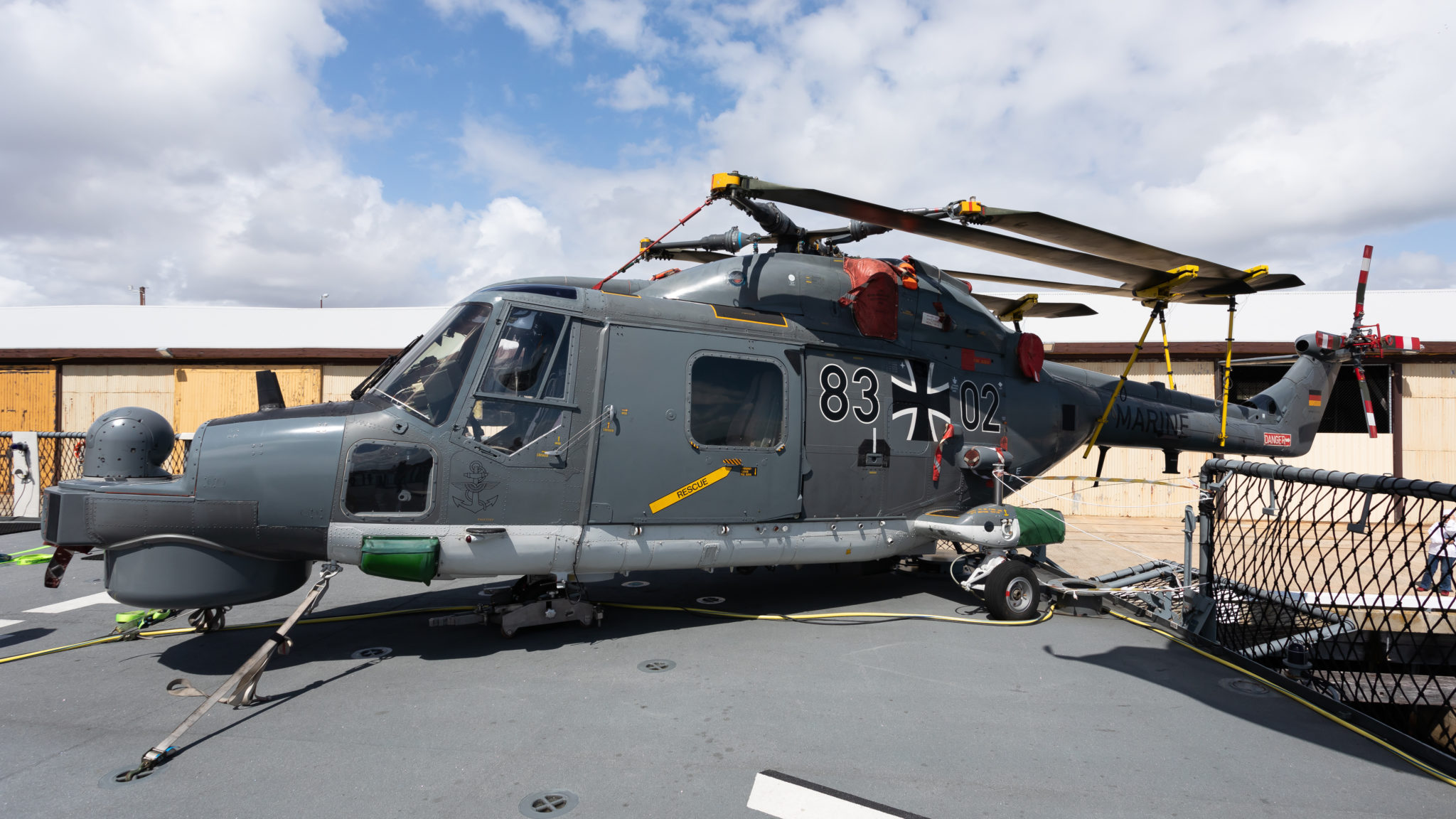German Frigate visits Fremantle Port with anti-submarine helicopters onboard